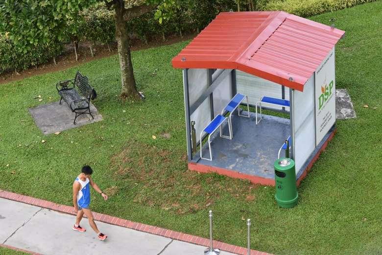 Nee Soon South area, Singapore, designated smoking points