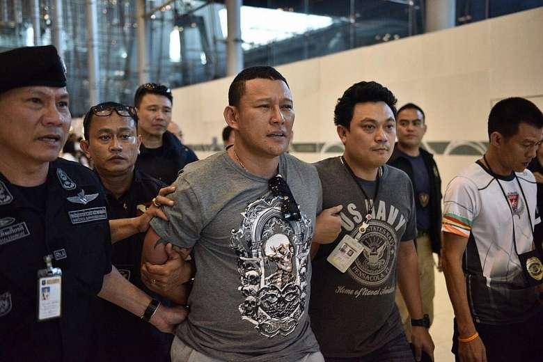 Drug kingpin arrested at Suyarnabhumi Airport at Bangkok.