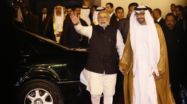 Narendra Modi and Sheikh Mohamed bin Zayed Al Nahyan, Crown Prince of Abu Dhabi