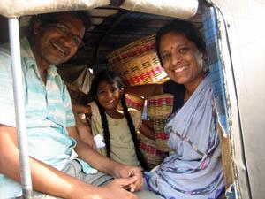 Aravinda Pillalamarri along with her husband Ravi Kuchimanchi.