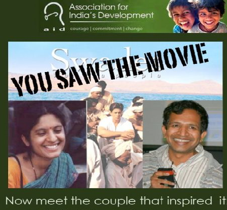 The Indian-American couple inspired Shah Rukh Khan's film 'Swades'