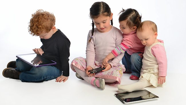 Children spending too much time on mobile phones and tablets