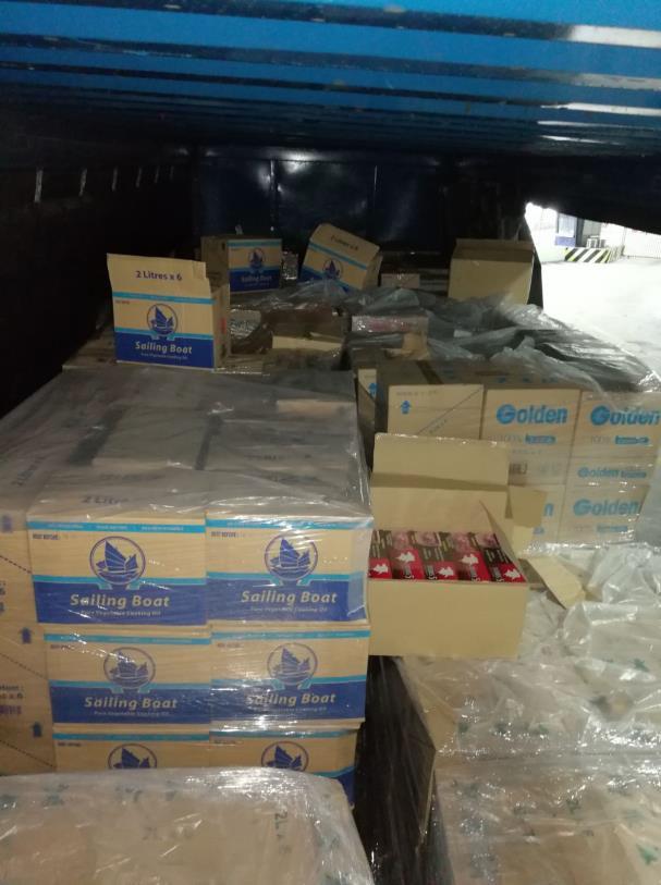 The seized cigarette cartons
