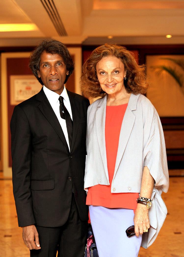 Vinod Nair with American designer Diane Von Furstenberg Photo courtesy: VNAWorld.com