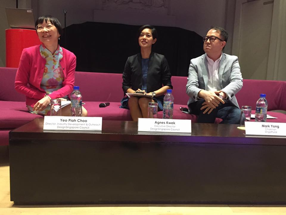 DesignSingapore Council Executive Director Agnes Kwek joins the panelists to address questions from the media
