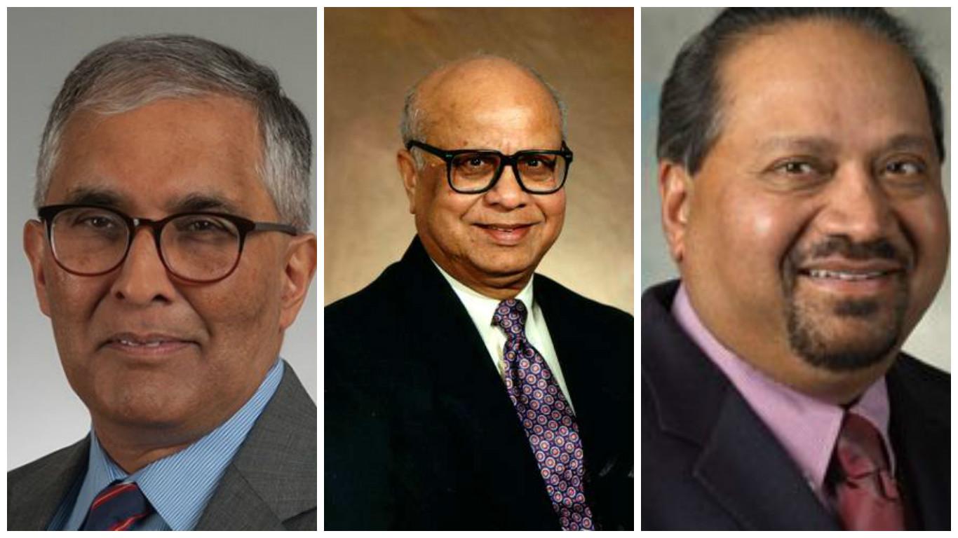 From left- Arindam Bose, Bimal K. Bose and Jay Giri