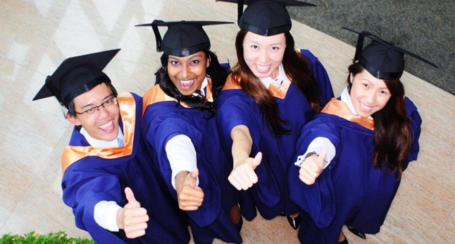 Students of Singapore's universities