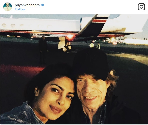 Priyanka Chopra with Mick Jagger