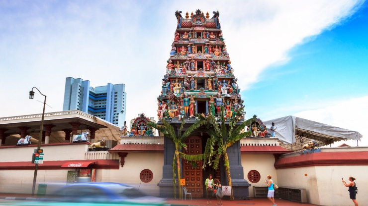 Sri Mariamman Temple at Chinatown