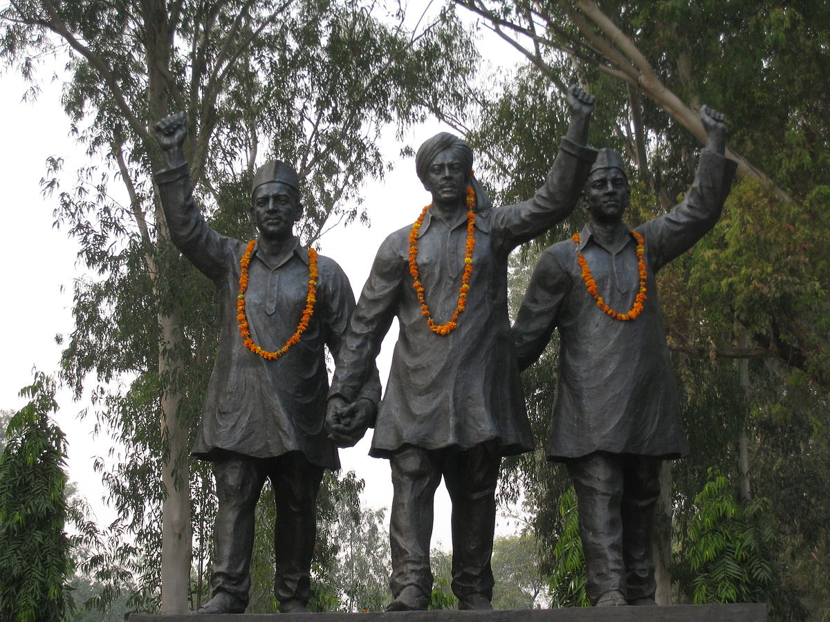 The statue of Bhagat Singh, Rajguru and Sukhdev.