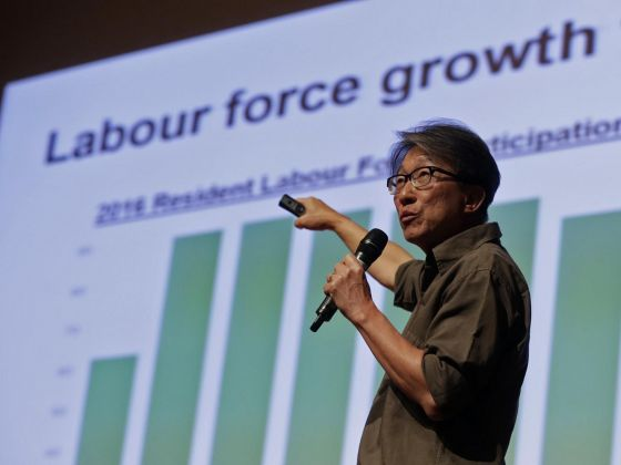 Minister of Manpower Lim Swee Say at Kent Ridge Ministerial Forum 2017. Photo courtesy: Wee Teck Hian