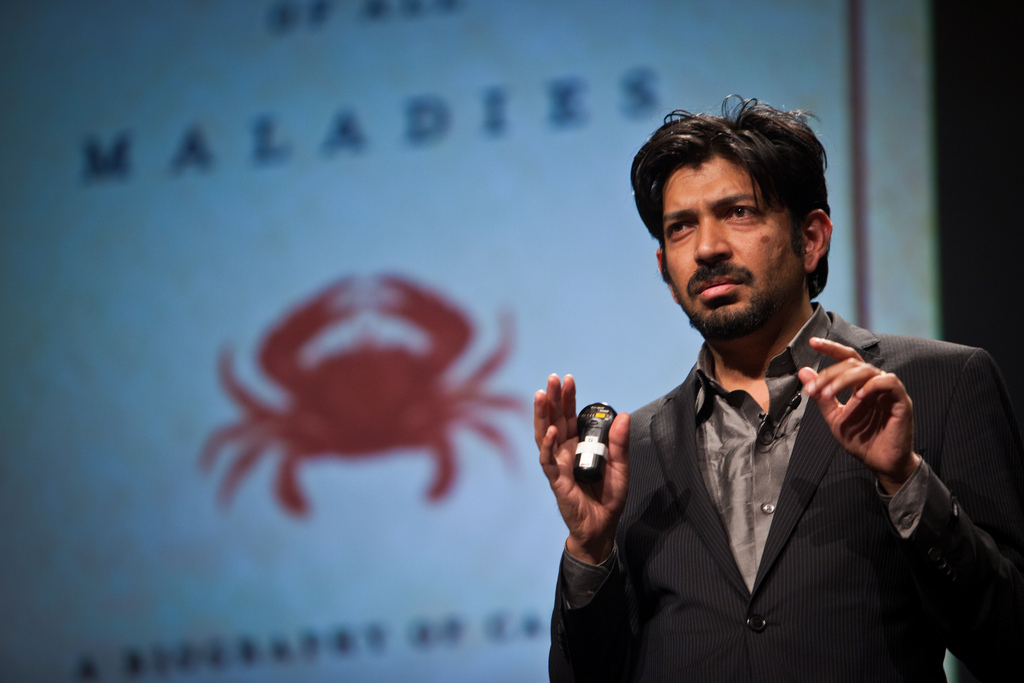 Siddhartha Mukherjee promoting his Pulitzer-winning book 'The Emperor of All Maladies: A Biography of Cancer'.
