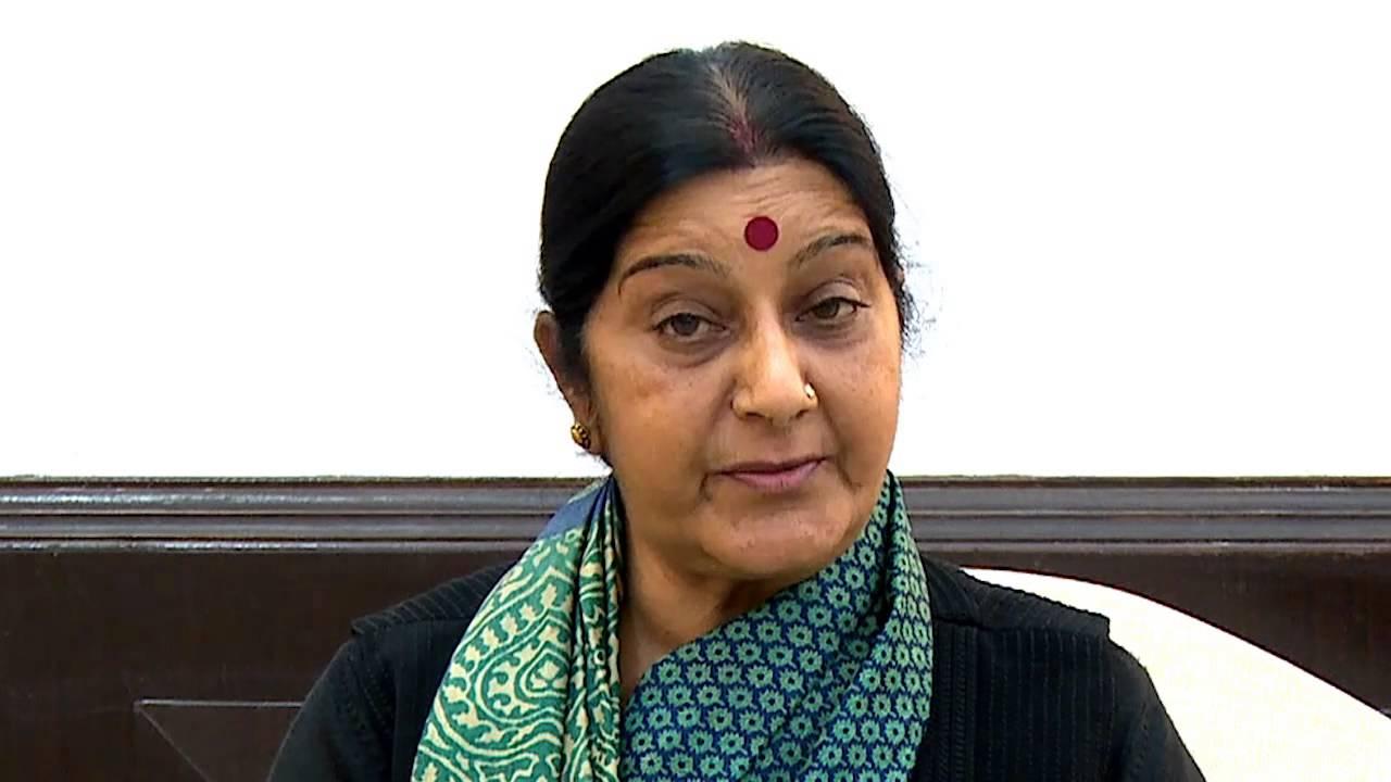 India's external affairs minister Sushma Swaraj