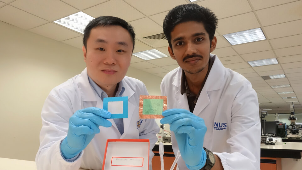 Assistant Professor Tan Swee Ching (left) and Mr Sai Kishore Ravi (right). Photo courtesy: NUS
