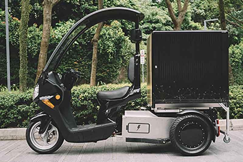 prototype electric three-wheeler, Singpost