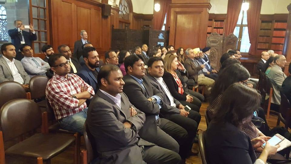 The Telangana Association of UK at the Indian Consulate in London.