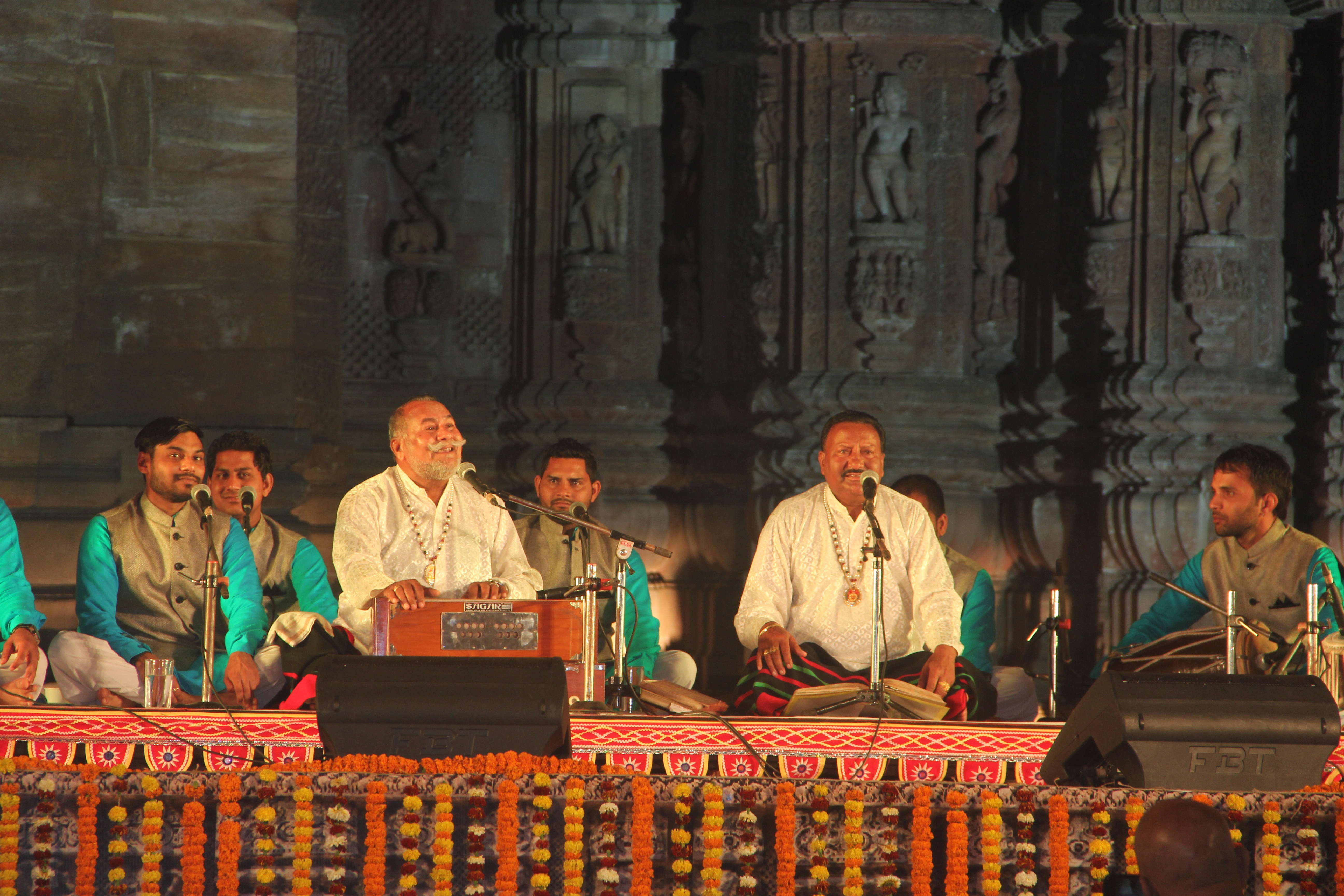 The Wadali brothers at a concert in India.