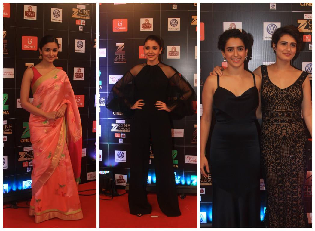 From left: Alia Bhatt, Anushka Sharma, Sanya Malhotra and Fatima Sana Sheikh.