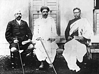 From left: Lala Lajpat Rai, Bal Gangadhar Tilak and Bipin Chandra Pal.
