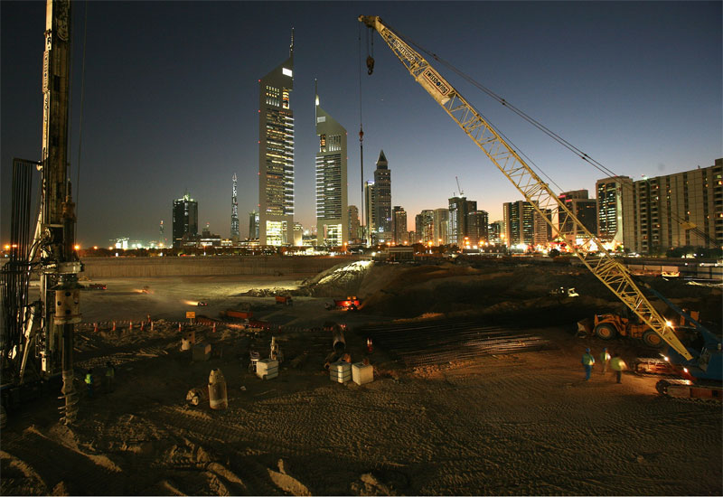 People in Dubai are facing problems due to sound of jackhammers and machinery used at construction sites during night.
