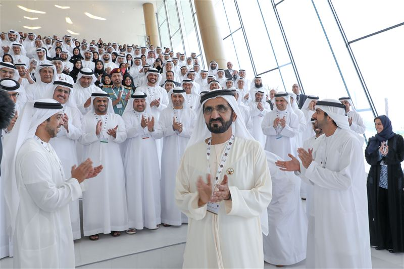 Sheikh Mohammed bin Rashid Al Maktoum, Vice-President and Prime Minister of the UAE participating in the programme in Dubai.