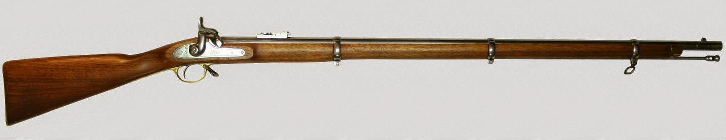 The new Enfield rifle which was introduced in the army of East India Company.