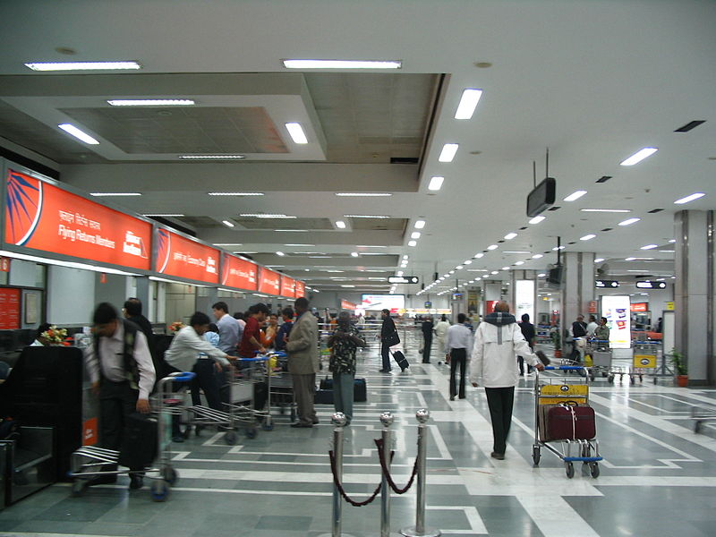 Departure terminal at Indira Gandhi International Airport, New Delhi