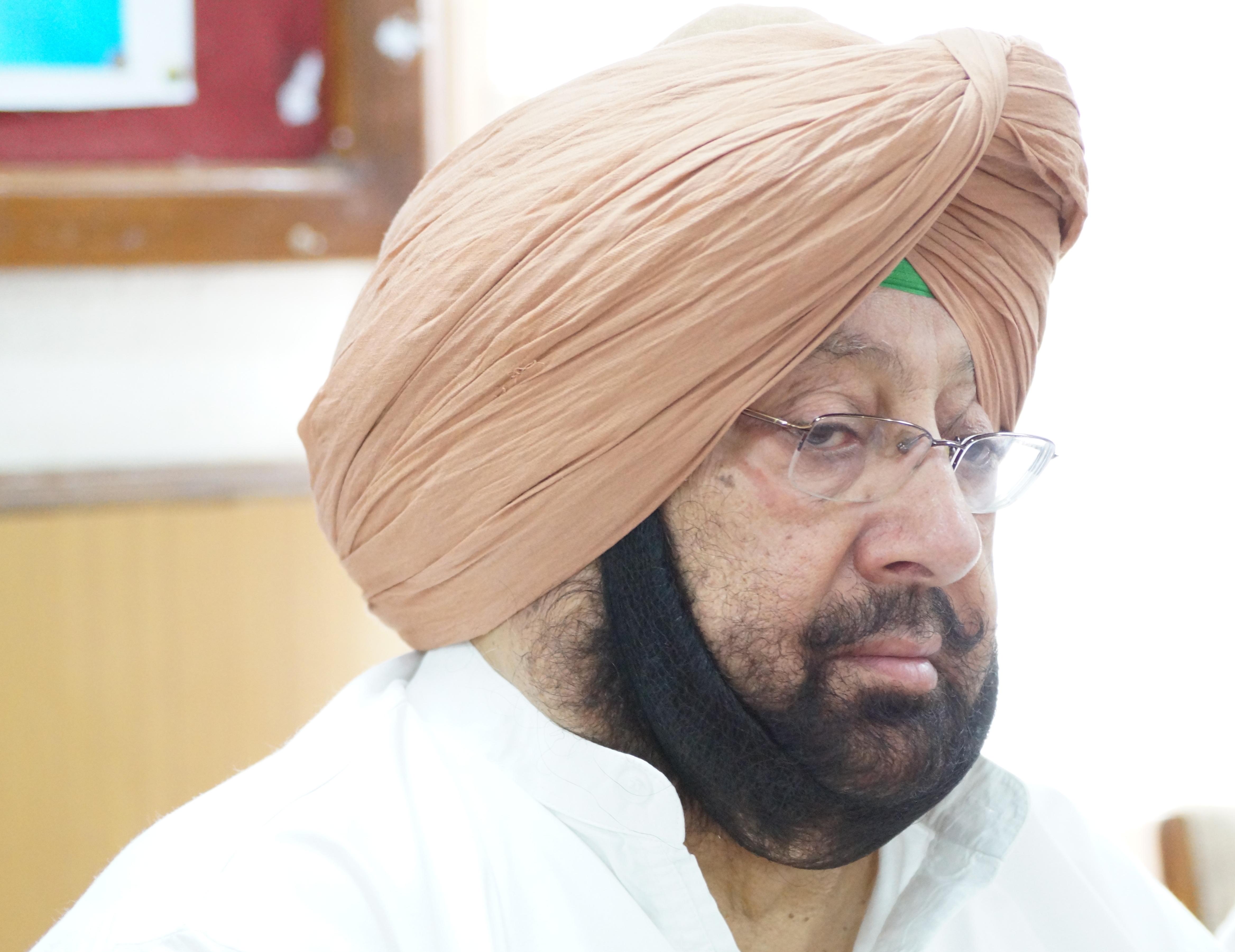 Punjab CM Captain Amarinder Singh.