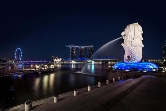 Singapore Flyer and Marina Bay Sands