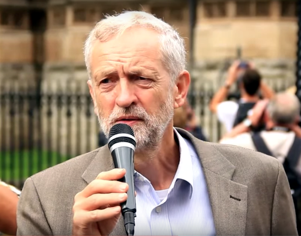 UK Leader of Opposition and Labour Party Jeremy Corbyn.