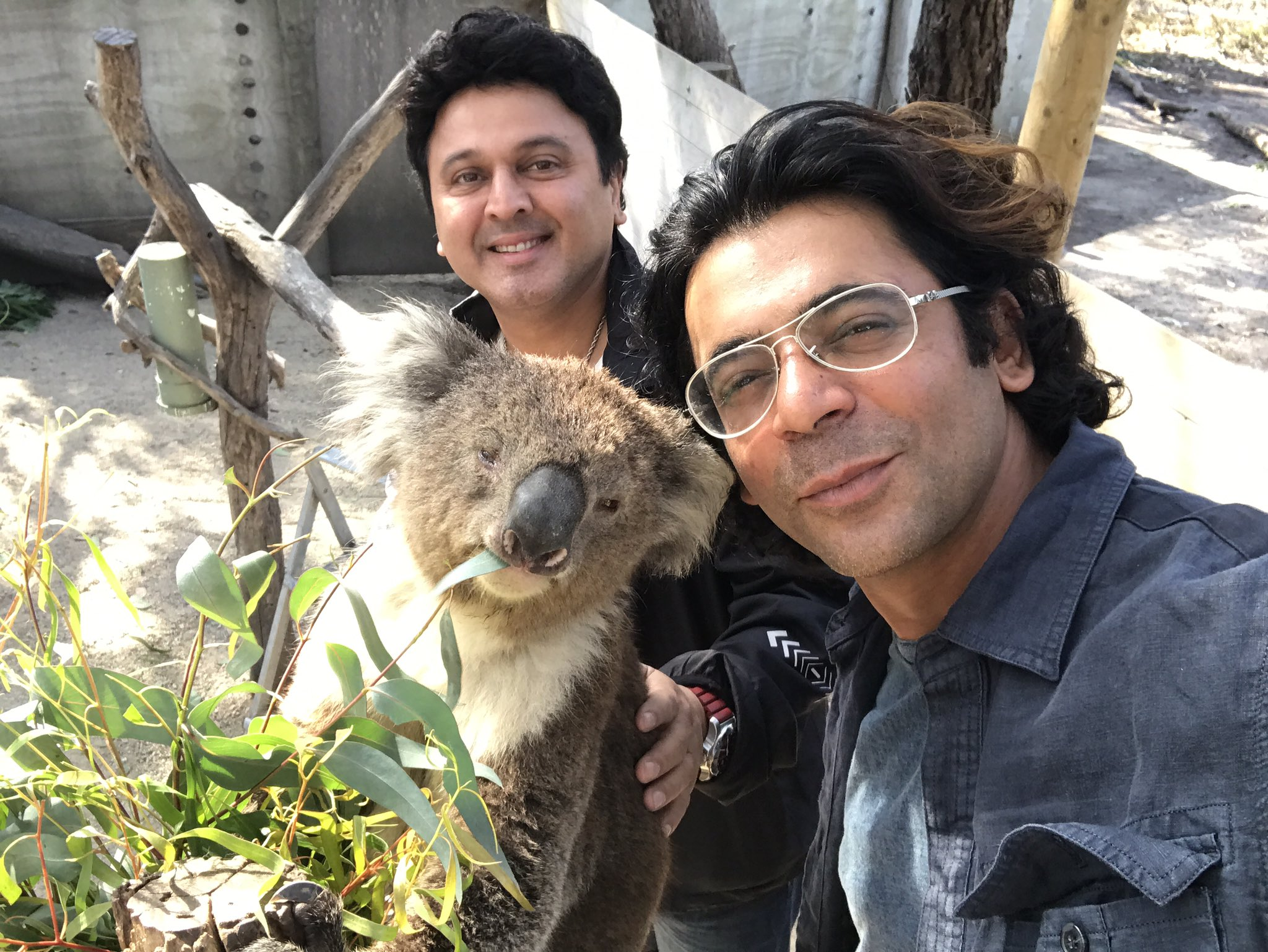 Comedians Sunil Grover and Ali Asgar.