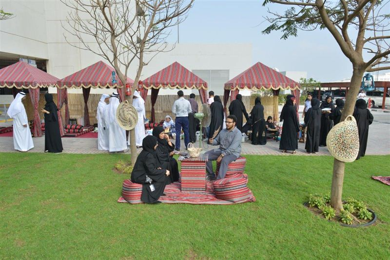 A heritage session in progress to apprise locals about the cultural heritage of UAE on the occasion of World Heritage Day.