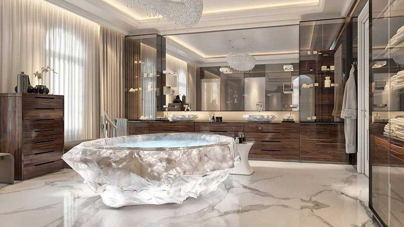 This villa boasts of having a bathtub worth USD1 million.