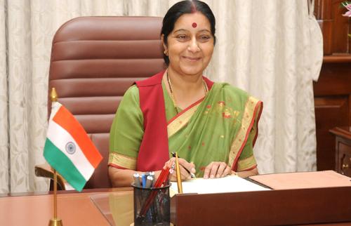 Indian Minister for External Affairs (MEA) Sushma Swaraj