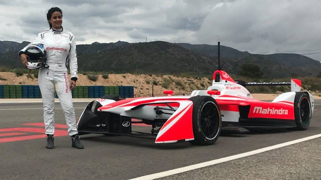Gul Panag drove the M4Electro at the Circuit de Calafat in Catalonia, Spain.