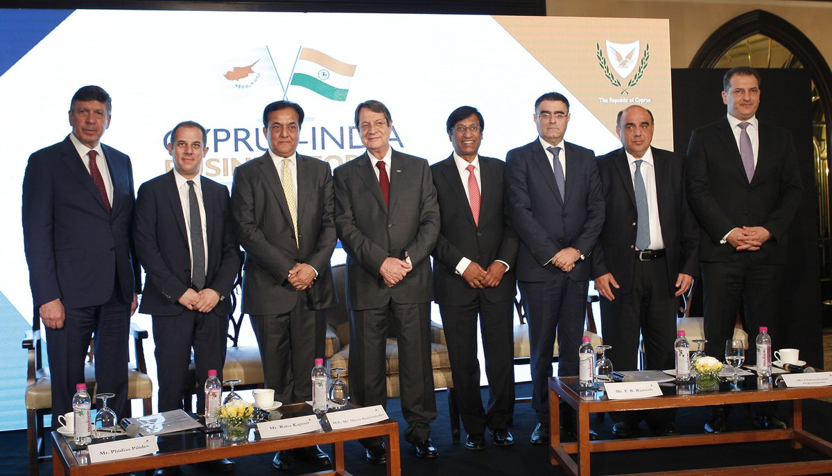 Cyprus President Nicos Anastasiades addressing Cyprus India Business Forum, reaffirming the strong will of Cyprus Government for closer bonds with India.