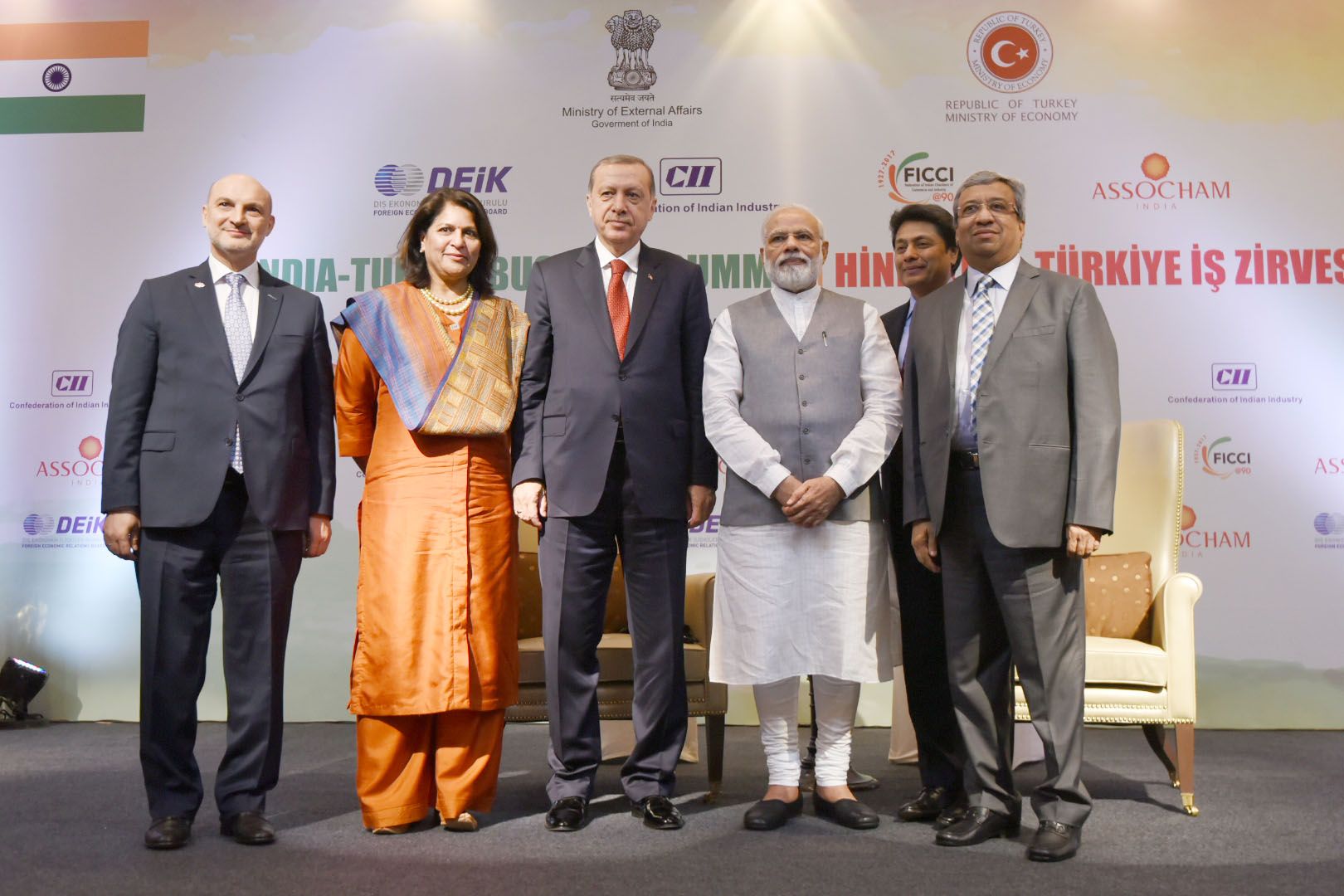Both heads of state at the India-Turkey summit.