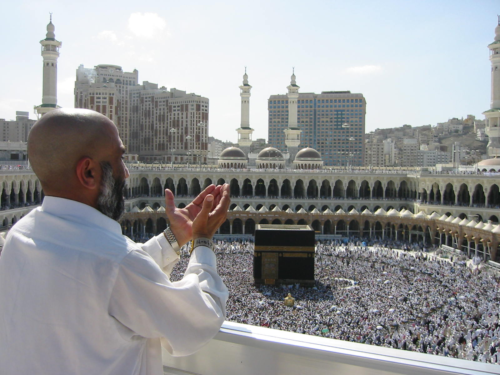Muslims offering prayers in Mecca.