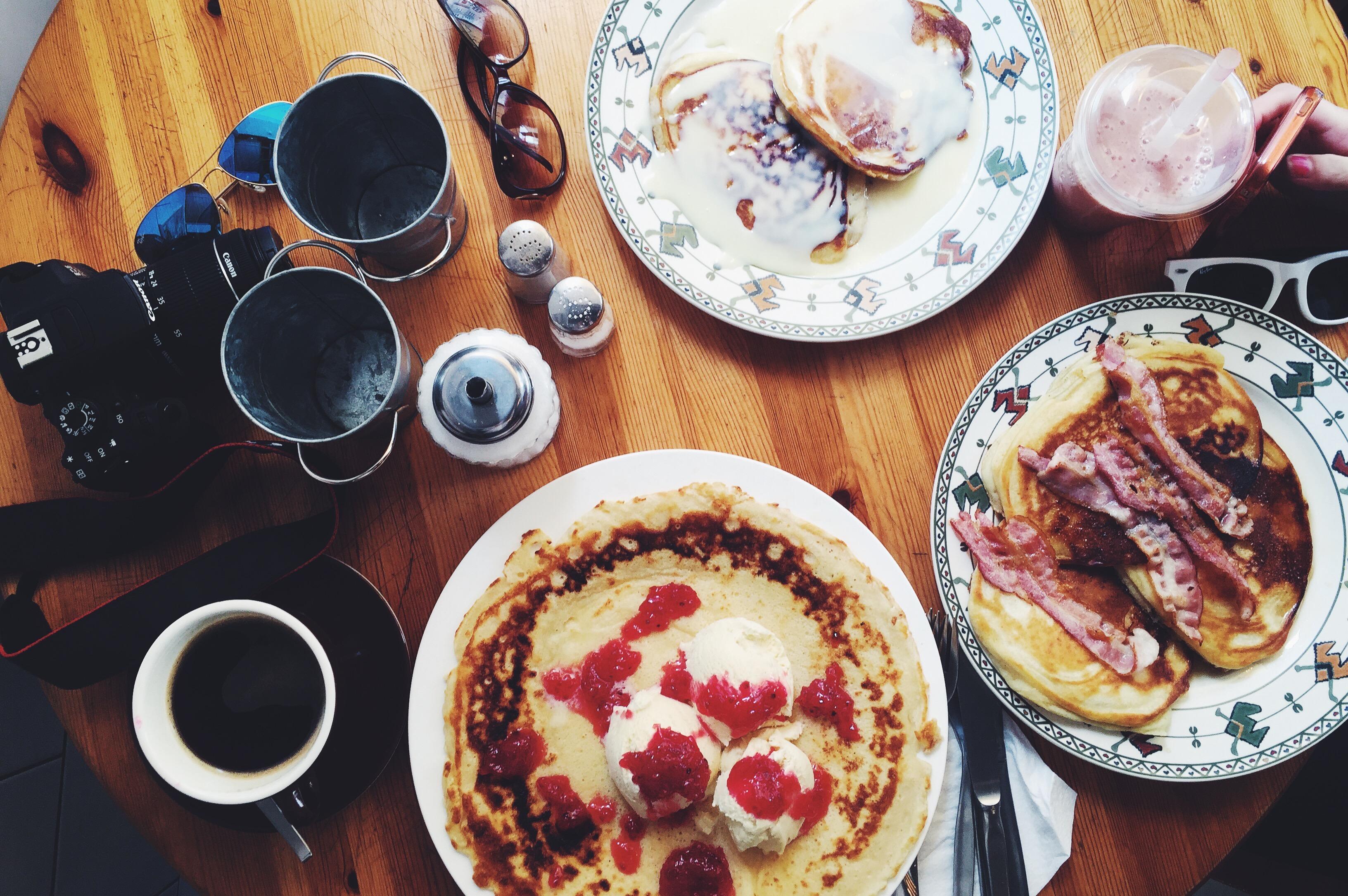 A Western-style breakfast.