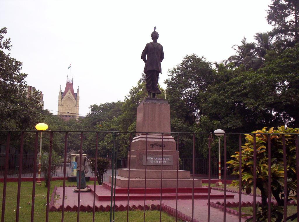 Khudiram Bose statue near Kolkata High Court.