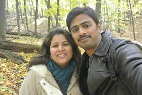 Srinivas Kuchibotla (left) with his wife Sunayana Domula.