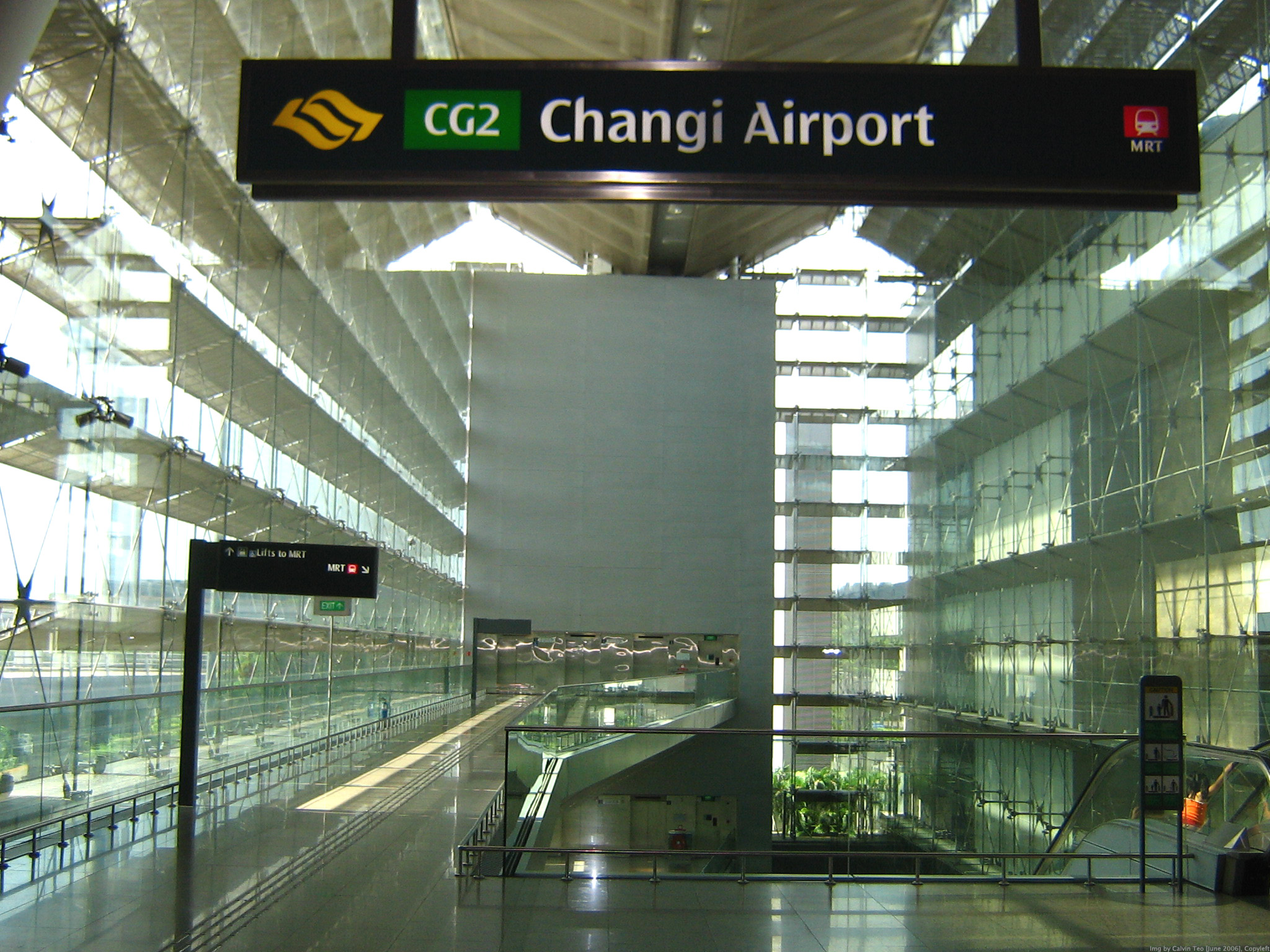 Changi Airport entrance.