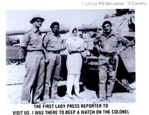 Fearless Prabha Dutt at the war front in 1965 Photo courtesy: Barkha Dutt FB Page