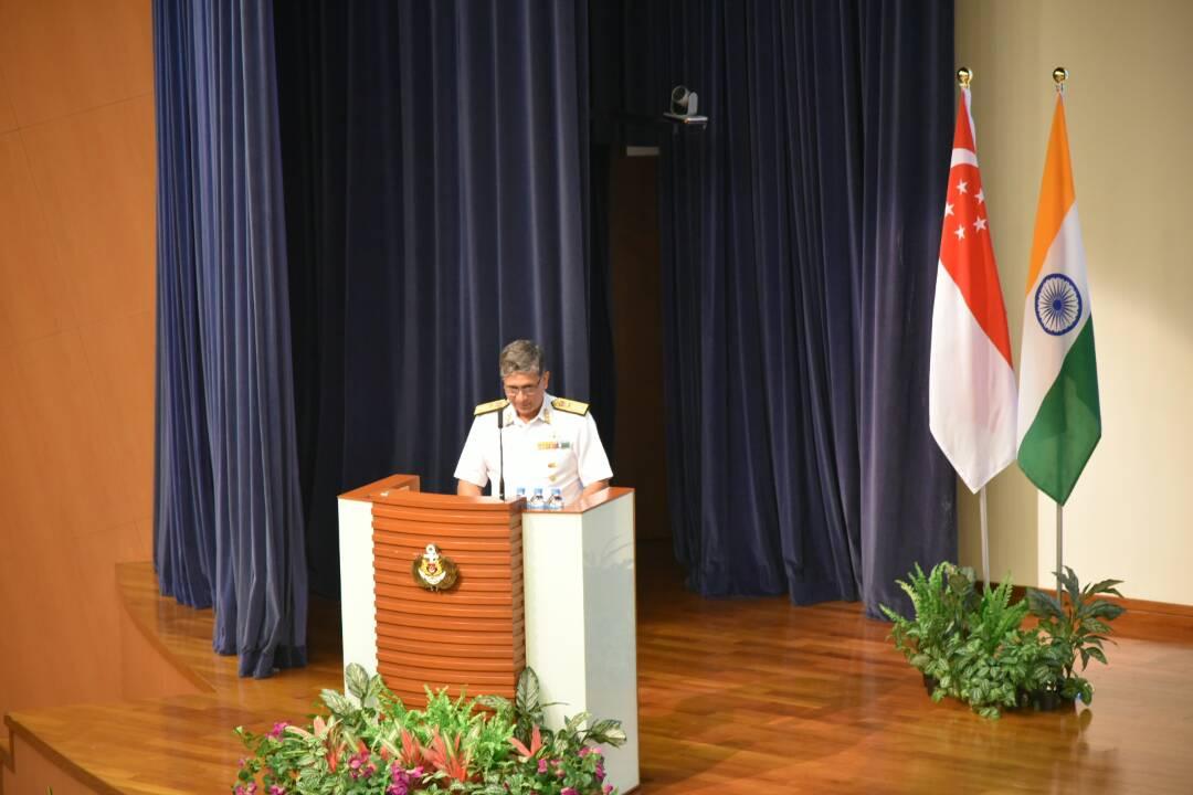 Singapore India Maritime Bilatral Exercise SIMBEX kick-starts with briefing by Flag Officer Commanding Eastern Fleet Rear Admiral B Dasgupta.