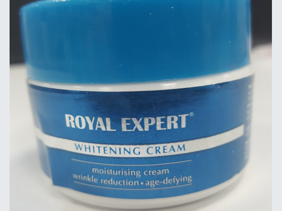 Royal Expert Whitening Cream which was found to contain high levels of mercury.