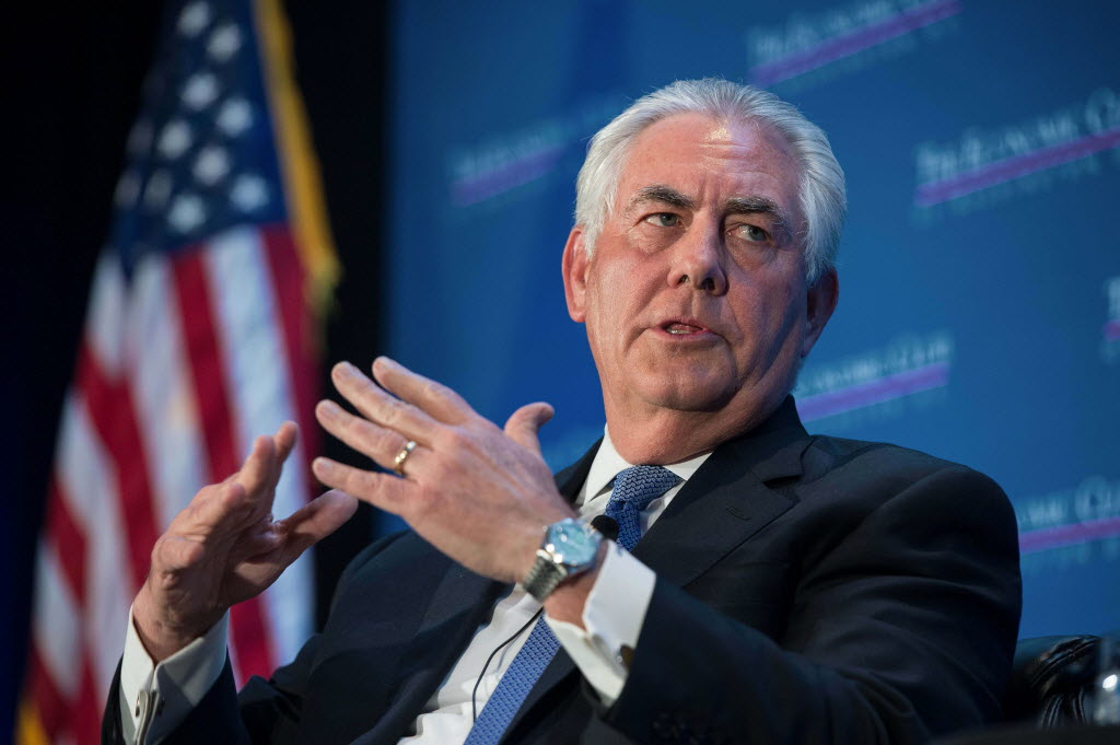 US Secretary of State Rex Tillerson 'regrets' Manchester bombing leaks