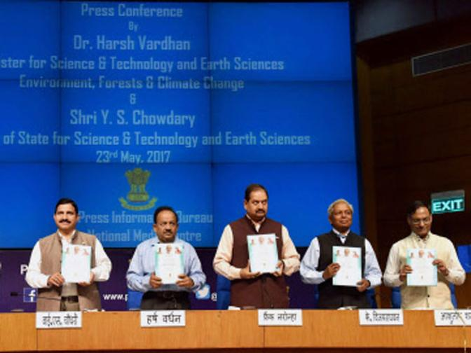 Dr Harsh Vardhan (2nd from right) at the event.