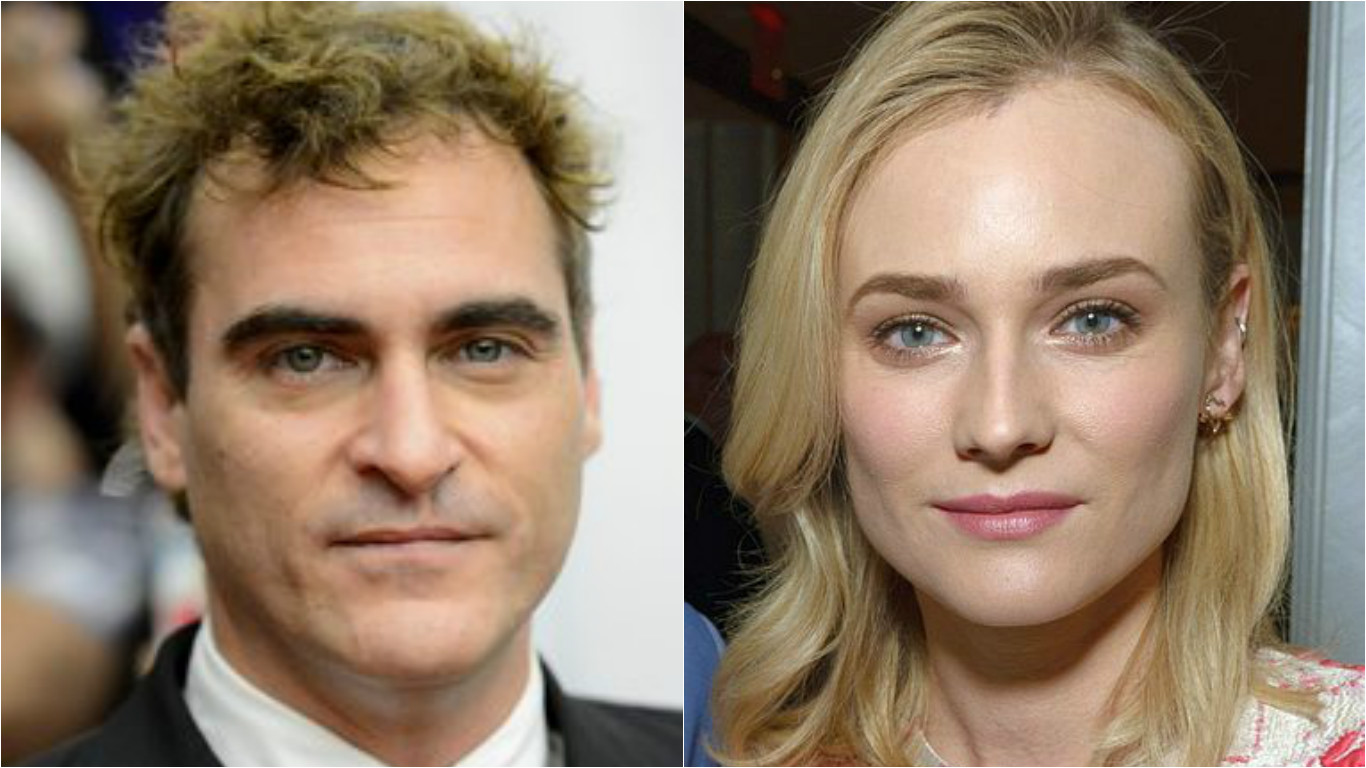 Joaquin Phoenix (left) won the best actor and Diane Kruger clinched the best actress.