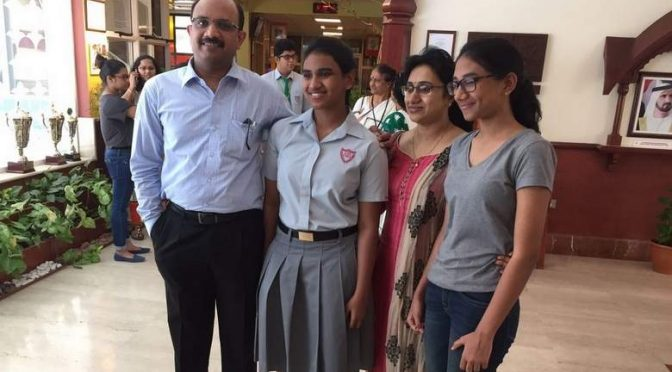 he Dubai-based Indian girl Meghna Savit  CBSE exam in UAE.