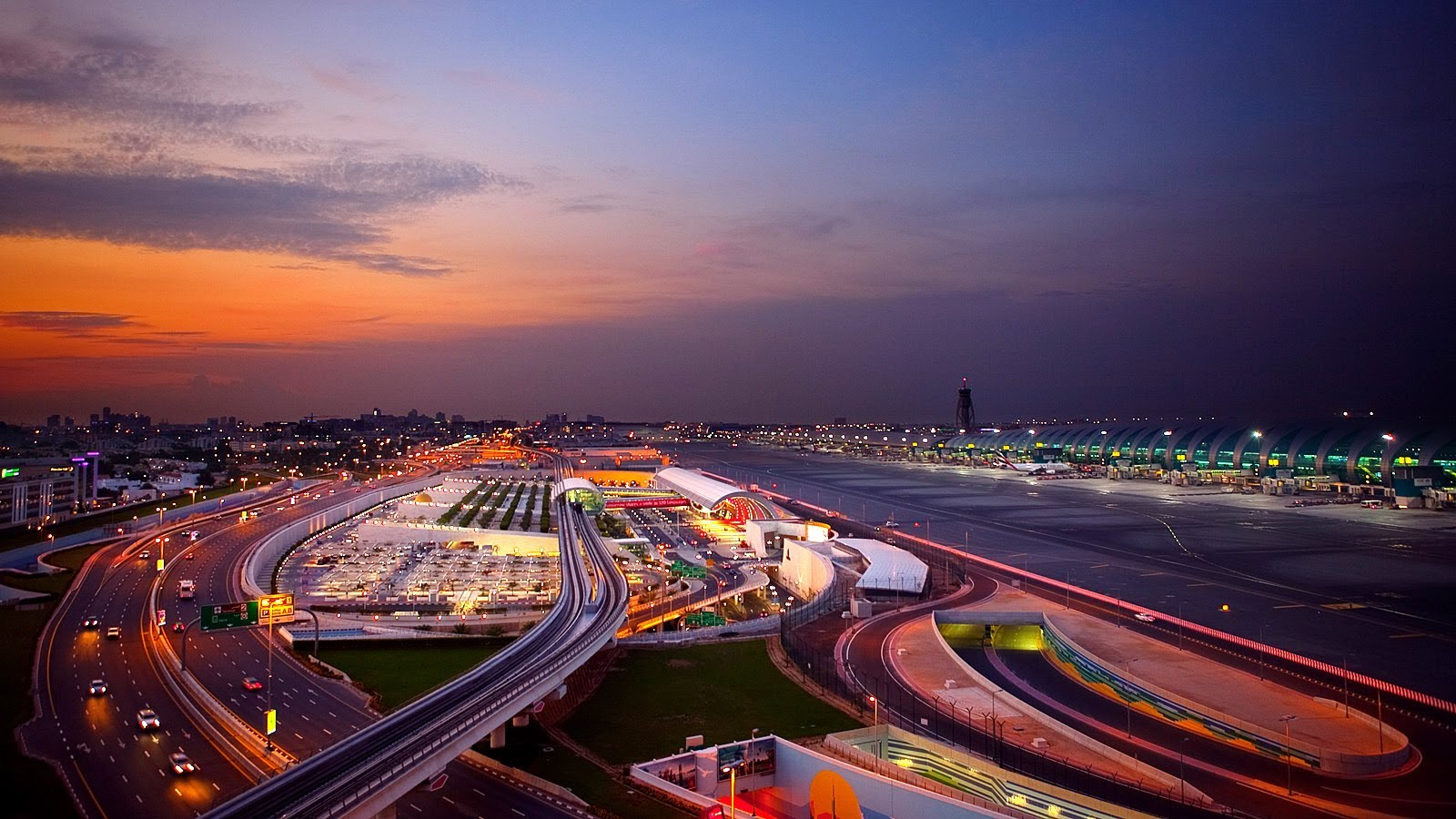 Maximum number of passengers from Indian subcontinent passed through Dubai International Airport.